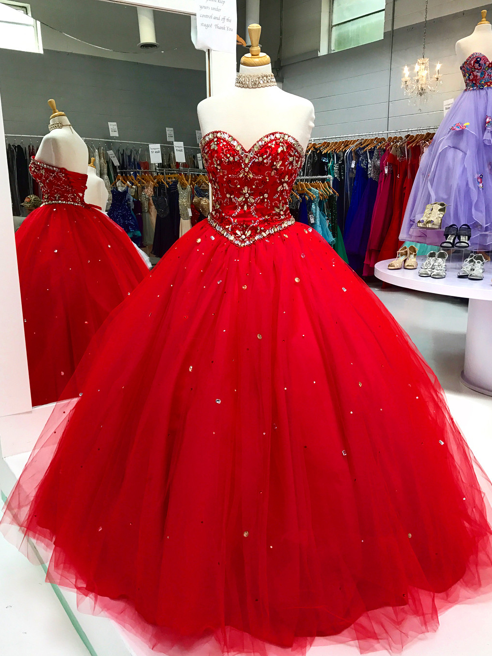 Fashion week Quinceanera red Pretty dresses pictures for woman