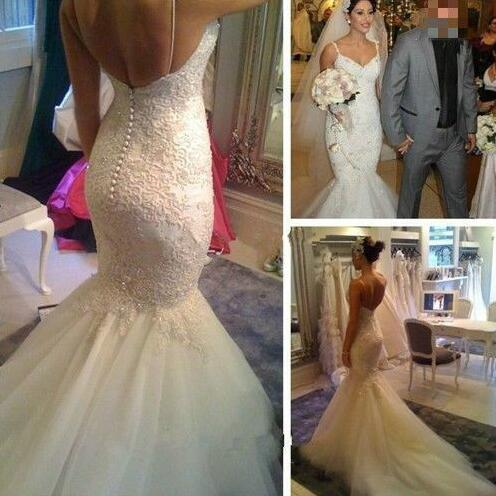 Wedding Dresses, Hot Sale Wedding Dresses, Sexy Wedding Dresses, V-Neck Wedding Dresses, Mermaid Wedding Dresses, Cheap Wedding Dresses, Spaghetti Wedding Dresses, Straps Wedding Dresses, Lace Wedding Dresses, Backless Bridal Gown, Custom Made Wedding Dresses