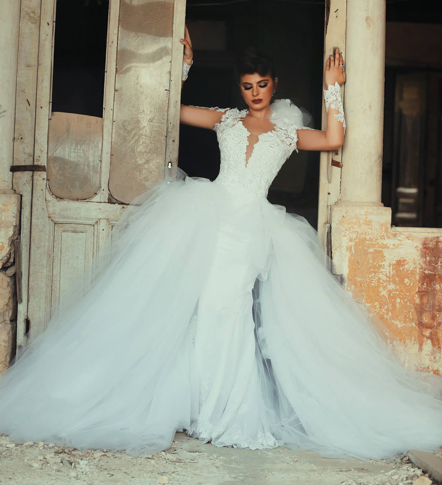 Detachable Trains For Wedding Gowns: Wedding Dress, Detachable Train Wedding Dress, Open Back