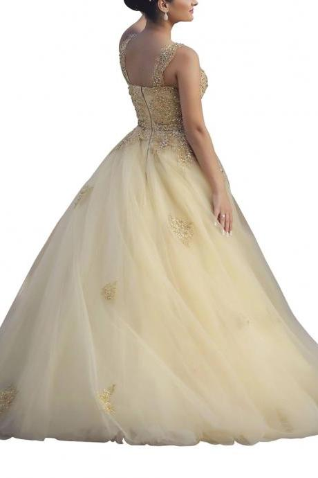 Exquisite Ball Gown Zipper Prom Dress Princess Quinceanera Gown