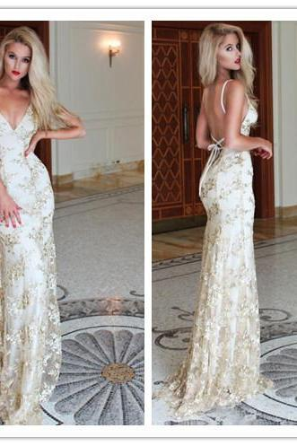 Evening Dress, Latest Evening Dress, Sexy Evening Dress, Mermaid Evening Dress, Lace Evening Dress, Formal Occasion Dress, Backless Evening Dress, Sweep Train Evening Gown